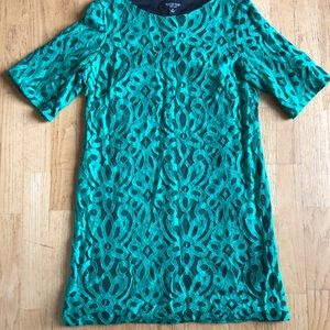 Perception New York lace dress, kelly green.